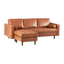 Tan Ceara Sectional Leather Sofa