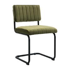 Olive Brie Velvet Dining Chair