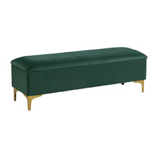 Emerald Lizbeth Velvet Storage Bench