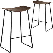 Columbus Timber Walnut Barstool (Set of 2)