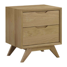 Jilly American Oak Bedside Table with 2 Drawers