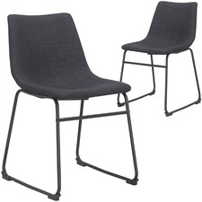 Black & Charcoal Omaha Dining Chair (Set of 2)
