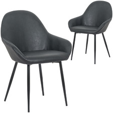 Simas Leatherette Dining Chair (Set of 2)