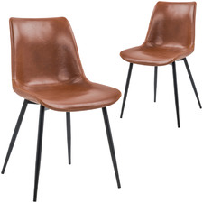 Laura Leatherette Dining Chair (Set of 2)