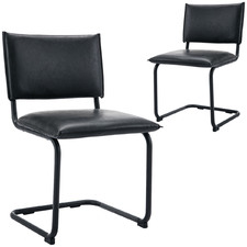 Gaviria Faux Leather Dining Chair (Set of 2)