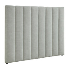 Light Grey Upholstered Queen Headboard