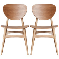 Jakobe Oak Dining Chairs (Set of 2)