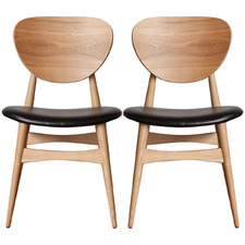 Jakobe Leatherette Dining Chairs (Set of 2)
