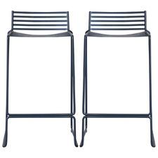 65cm  Adisa Low Back Wire Barstools (Set of 2)