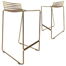 65cm  Gold Club Wire Barstools (Set of 2)
