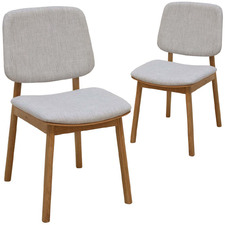Oak & Light Grey Archie Chairs (Set of 2)