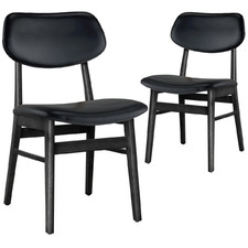 Hontou Leather Dining Chairs (Set of 2)