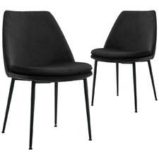 Caerlton Velvet Dining Chairs (Set of 2)