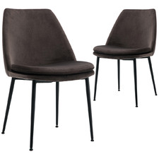 Caerlton Velvet Dining Chairs (Set of 2)