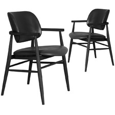 Sarina Leather Dining Chairs (Set of 2)