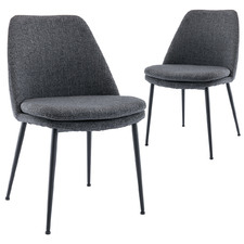 Charcoal Caerlton Dining Chairs (Set of 2)