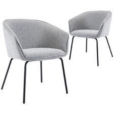 Grey Amanda Dining Chairs (Set of 2)