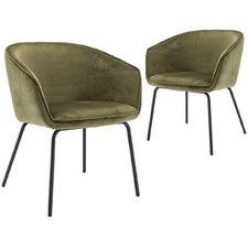 Olive Amanda Velvet Dining Chairs (Set of 2)