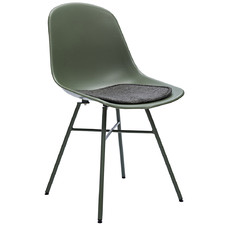 Tova Plastic & Metal Dining Chair with Seat Pad