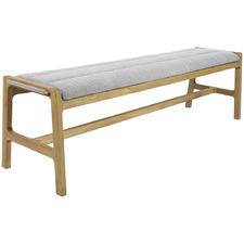 Grey Achan Oak Wood Bench