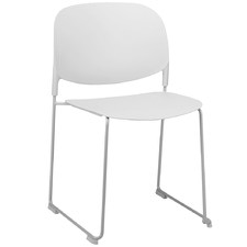 White Hermina Stackable Outdoor Dining Chair