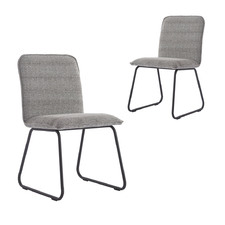 Grey Henrietta Upholstered Dining Chairs (Set of 2)