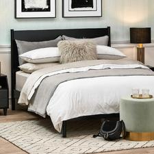 Black Ciaran Timber Bed