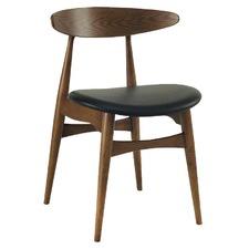 Espresso Vinyl Scandinavian Tricia Dining Chair (Set of 2)