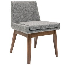 Pebble Grey & Cocoa Stain Evy Dining Chair (Set of 2)