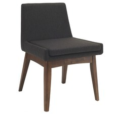 Charcoal Black & Cocoa Stain Evy Dining Chair (Set of 2)