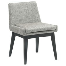 Pebble Grey & Black Stain Evy Dining Chair (Set of 2)