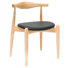 Espresso Vinyl & Natural Oak Stain Bouvier Chair (Set of 2)