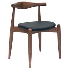 Espresso Vinyl & Walnut Stain Bouvier Chair (Set of 2)