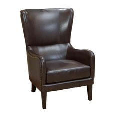 Salerno Leather High-Backed Armchair