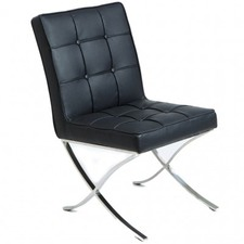 Breck Modern Leather Dining Chair (Set of 2)