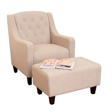 Canberra Armchair & Footstool Set