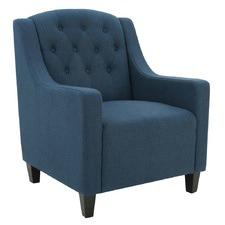 Dark Blue Canberra Fabric Armchair