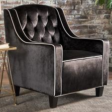 Lara Tufted New Velvet Armchair