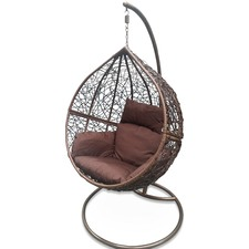 Dark Brown Hanging Ball Chair