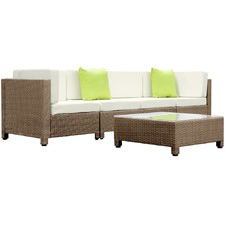 Toulon 5 Piece Pe Rattan Outdoor Lounge Set