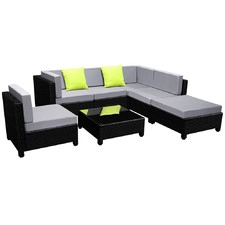 Vaucluse 7 Piece PE Wicker Outdoor Lounge Set