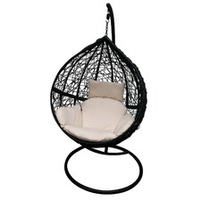 Black Hanging Ball Chair