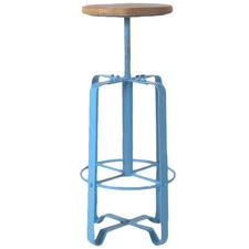 Industrial Timber Top Stool