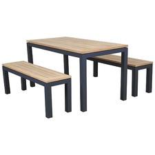 3 Piece Portello Outdoor Table & Bench Set