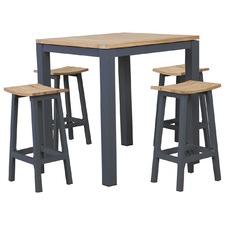 5 Piece Sicily Outdoor Bar Table & Stool Set