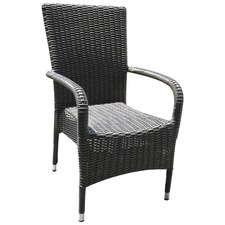 Chile Outdoor High Back Stacking Chair