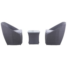 3 Piece Novara Balcony Chair Set