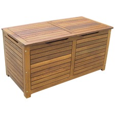 Nero Outdoor Wood Cushion Box