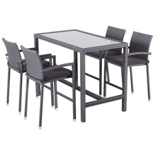 5 Piece Alma Bar Table & Stool Set