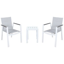 3 Piece Alessandra Outdoor Padded Sling Chair & Table Set